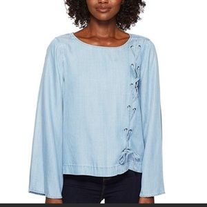 Vince Camuto Chambray blouse size: PXS